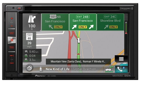 "NEW!- In-Dash Navigation AV Receiver with 6.2"" WVGA Touchscreen Display"